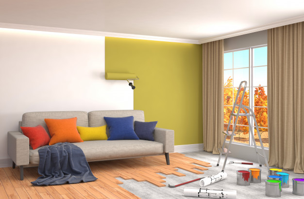 Repair painting walls room